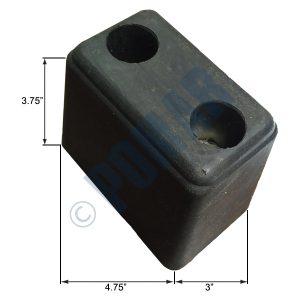 1034 Series Molded Rubber Bumper
