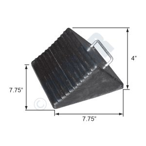 1049 Series Small Contour Rubber Wheel Chock