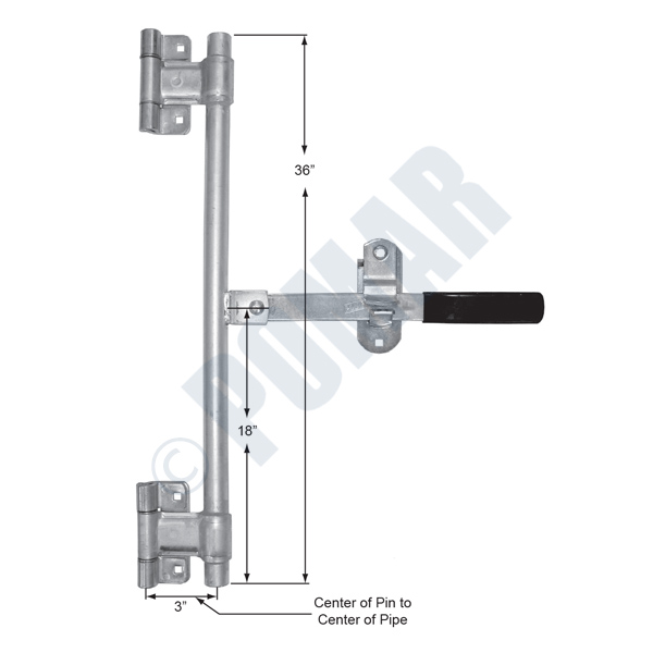 Pomar Hardware | 357 Series Pre-Welded Hinge Style Cam Over Action