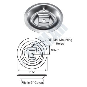 701 Series Recessed Rope Ring