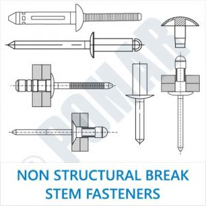Non Structural Break Stem Fasteners